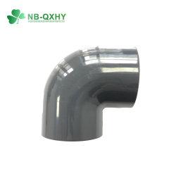 Montaje del tubo de PVC estándar DIN Codo de 90 grados codo de tubo de PN16