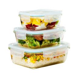 800 ml FDA Microwavable LFGB Foods conteneur conteneur en verre GW203