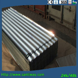 0.15-0.30mm Techado Sinusoidal de Acero Galvanizado Lámina de Acero