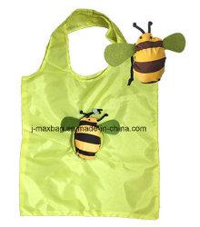 Cadeaux Sac shopping pliable avec pochette 3D, des animaux de l'Abeille, réutilisables et léger, de style, de promotion