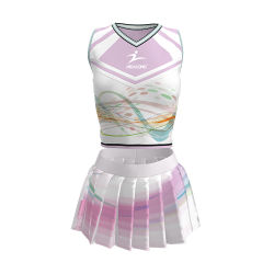 Novo Design Cheerleader vestir roupas da moda Custom Meninas claque fardas de serviço