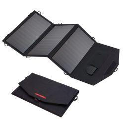 21W Sunpower DC USB repliable Téléphone Mobile Banque d'alimentation Chargeur solaire portable sac logo OEM