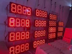 Gaspreis-Zeichen-Zahlen der roten Farben-8inch für doppelte Seite