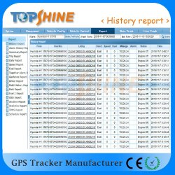 Instalação gratuita em tempo real baseada na Web com o software de rastreamento por GPS, em tempo real e o relatório de verificação do histórico
