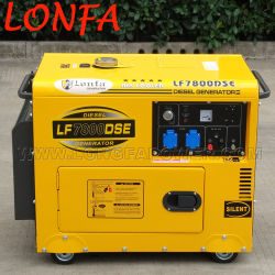 6.5kw 6.5kVA Luchtgekoelde Silent Type Single Cylinder Diesel Generator met ATS