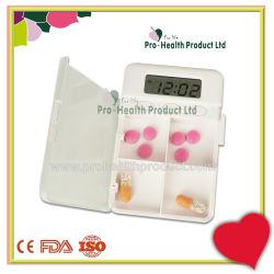 4 compartiments 24 heures minuteur numérique pilule Rappel d'alarme Box