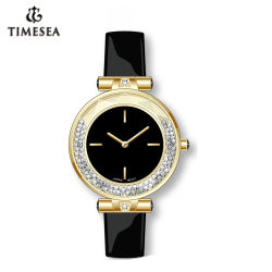 Dame-Diamant passen Armband-Uhr mit Japan-Quarz Movement-71365 an
