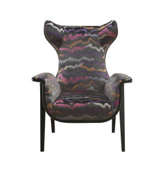 유일한 패턴 가죽을%s 가진 현대 여가 의자 Wingback 의자
