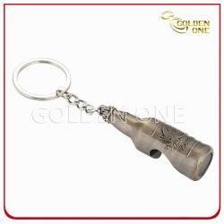 تصميم فاخر Antique Brass بنقوش معدنية زجاجة Opener سلسلة مفاتيح