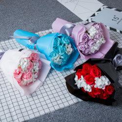 Nuevo diseño de regalos florales Citta promoción vacaciones precio de fábrica al por Mayor de San Valentín actual ronda de la artesanía Bouquet de flores de jabón