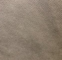 Nuevo tema Suede tela con flocado de cuero Real de respaldo de tela de sofá de cuero