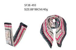 Горячая продажа квадратных женщин Без шарфа розового цвета с цветочным рисунком с мягким шелковым ощущение 2021