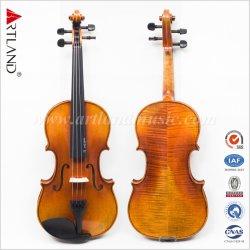 Legno solido fatto a mano antico del violino della qualità superiore (AVA200)