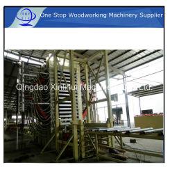 MDF 생산 라인 메이커 유압 MDF 도어 생산 라인/멜라민 용지 라미네이팅 핫 프레스 목재 기반 패널 기계 MDF 생산 라인 제조업체
