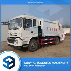 Mini 12cbm-afvalverzamelvoertuig Afvalcontainer samengeperste vuilnisbak Vuilnisverdichter vrachtwagen met sideloading vuilnisbak vrachtwagen
