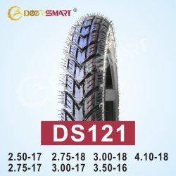 Motor piezas de repuesto motocicleta 125 Precio trasero 6PR/8PR patrón DS121 Neumáticos de nylon para motocicletas 3.00-18