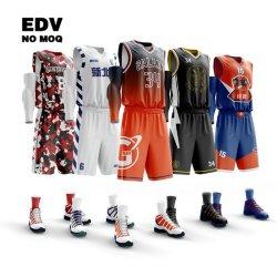 Conjunto de equipamento de basquetebol secundário OEM Custom Basketball Team Wear Para Clubes