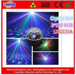 3W de Kristallen bol LED Christmas Light van RGB Auto Sound