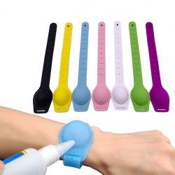 Vestível portátil de mão de Silicone Sanitizer desinfectante Bracelete Pulseira