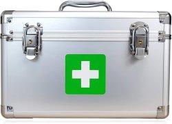 Boîtier en aluminium de premiers soins professionnels de la médecine d'urgence de la boîte de rangement