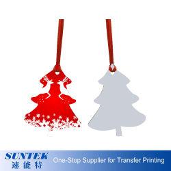 カスタムロゴのクリスマスツリーをハングさせるよい熱伝達の写真の昇華クリスマスの装飾