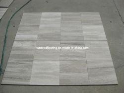 Marmo di legno grigio della vena per le mattonelle di pavimento e della parete