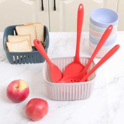Resistente al calor segura y duradera Stain-Resistant Herramientas de Cocina de silicona espátula pinzas /Turner anti-adherente cuchara para utensilios de cocina