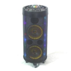 """Si raddoppia """" l'audio altoparlante portatile stereo del calcolatore di PA di Floorstanding dell'aria domestica 8 con il Woofer Multi-Colored di karaoke di Bluetooth ed il microfono senza fili di musica"""