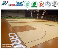 Holzstruktur Holzmaserung PU-Beschichtung highe Performance Basketball Court Bodenbelag