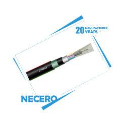 Для использования вне помещений коаксиальный единый режим прямого захоронения оптоволоконный кабель 24 32 36 48 Core GYTA53, 20 лет на заводе Necero
