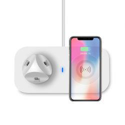 1の多機能の充電器3は接続サポートアンドロイドかiPhoneまたはタイプCのセリウムの公認の無線充電器ワイヤーで縛った