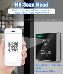 Wiegand 26/34 RS485 RS232 USB ingebouwde ID IC RFID Toegangscontrole QR-codescanner kaartlezerdeur (HM30)
