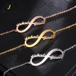 Nom personnalisé de bricolage en acier inoxydable Necklace Handchain Earpin un nombre illimité de collier de jeu de symboles