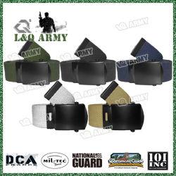 Web militar cinturones hebilla de cinturón negro de algodón 100% de las correas de la Web - 1.25 pulgadas de ancho