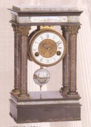 Marbre et de Bronze (ST54) de l'horloge