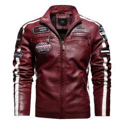 Moto chaquetas de cuero chaquetas de cuero de invierno de los hombres de negocios masculinos Casual abrigos PU