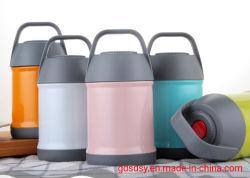 Aço inoxidável Design colorido Recipiente de almoço de parede dupla com isolamento de vácuo térmica jarra alimentar