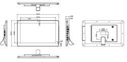 15.6-pulgadas WiFi Android Publicidad Reproductor de Vídeo LCD TARJETA USB Reproductor de Imagen Digital Photo Frame con la batería