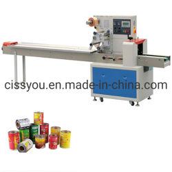 La Chine à l'horizontale de l'emballage des aliments chauds gâteau Machine d'emballage de débit instantané
