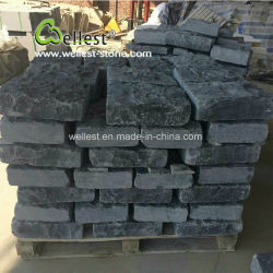 Split+ ciselés naturelles calcaire noir de la brique et un coin pour les murs de pierre