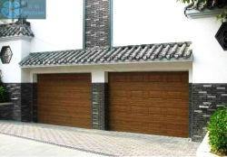 Coche doble techo seccionales correderas automáticas de techo residencial puerta de garaje grande