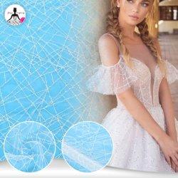 Элегантный стильный белый цвета слоновой кости Sequin вышивка девушка платье кружевной ткани