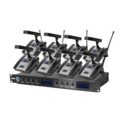OEM 전문가 8 채널 UHF 회의 교회 부속 학교 단계 성과 회의를 위한 무선 마이크 시스템