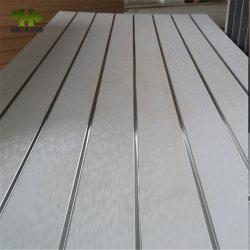 15 мм/18 мм белого цвета меламина корончатой MDF/системной платы/гнездо Slatwall MDF MDF с 7/11/15 канавки для отображения