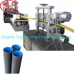 De HDPE PVC plástico ondulado de parede dupla Dwc tubo corrugado máquina extrusora