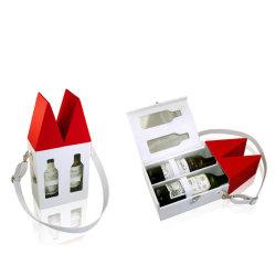 Spätester Entwurfs-Großverkauf-Bildschirmanzeige-Geschenk-Wein-Kasten mögen Haus (5741)