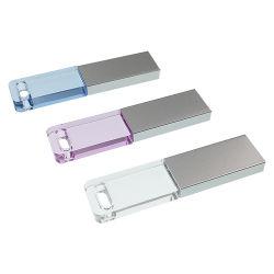 Gift Pendrive van het Huwelijk van de Aandrijving van de Flits van de Rechthoek USB van het kristal de Transparante