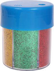 60g/2.11 oz 6 Colores Glitter Shaker para DIY