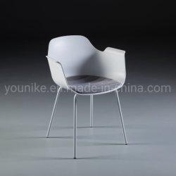 كرسي جانبي بمقاعد مخصصة للكراسي الجانبية كرسي عصري وأنيق مصنوع من البلاستيك PP مع كرسي سيقان معدنية ومقعد حديث متوسط القرن مع ذراع H-1906