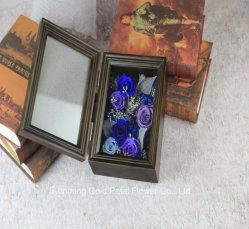 Hot vendre nouveau cadeau flétrissure préservé fleur bleu et rose pourpre noir de cadeaux Photo Frame pour mariage decoration
